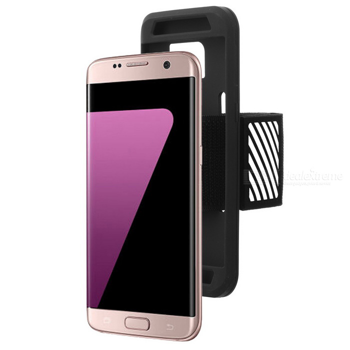Easy Fitting Sport Running Armband Case for Samsung Galaxy S7 EdgeArmbands &amp; Wristbands<br>Form  ColorBlackModelN/AMaterialPolyester fiber + siliconeQuantity1 DX.PCM.Model.AttributeModel.UnitShade Of ColorBlackCompatible ModelsGALAXY S7 edgeBand Length37 DX.PCM.Model.AttributeModel.UnitPacking List1 * Silicone case1 * Aarmband<br>
