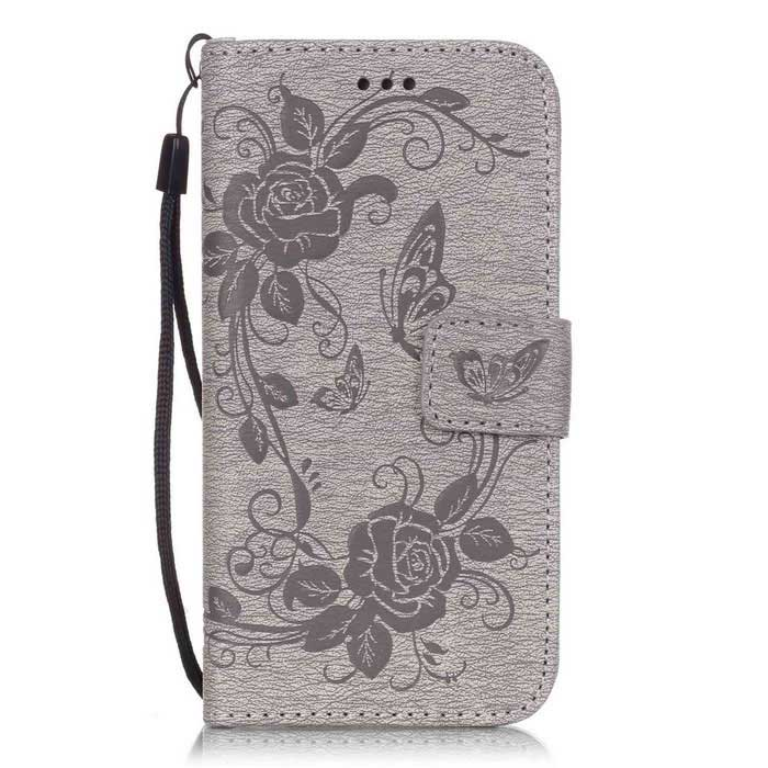 "BLCR Butterfly Pattern Wallet Case for 5.5"" IPHONE 6 Plus - Gray"