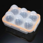 Fogo-de bordo 6-Hole Egg Protector PP Container Box - Transparente
