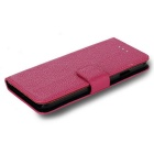 Lichee Pattern Protective Full Body Case for IPHONE 7 PLUS - Deep Pink