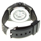 Day Bird Stainless Steel Self-Winding Mechanical Wristwatch (Black + Silver)