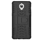 2-in-1 Hard + Soft Rubber Back Case Cover for OnePlus 3 - Black
