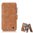 Protective Magnetic Removable Wallet Case w/ Stand, Card Slots for IPHONE 6 Plus / 6S PLUS - Brown