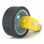 65mm Smart Car Modelo usable ruedas de caucho para TT Motor - Azul (4PCS)