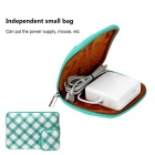 "EPGATE 15.6"" Folk Style Laptop Sleeve Bag + Power Bag - Green + White"