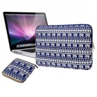 "EPGATE 15 ""Folk Стиль Laptop Sleeve сумка + Power Kit сумка - синий + белый"