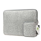 "EPGATE 15.6"" Folk Style Laptop Sleeve Bag + Power Bag Kit - Light Grey"