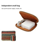 "EPGATE 15.6"" Folk Style Laptop Sleeve Bag + Power Bag - Brown"