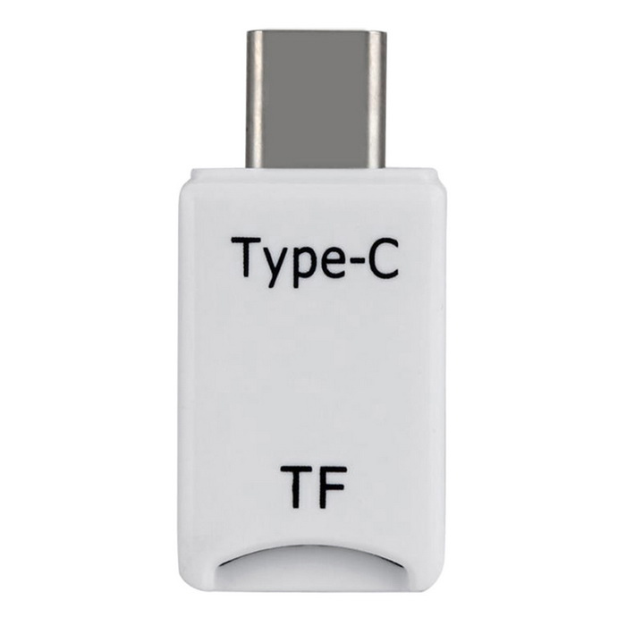 USB 3.1 Type-C Interface TF Card Reader - White
