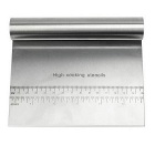 Stainless Steel Dough Knife Dough Scraper Baking Tool w/ Ruler