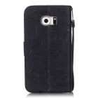 BLCR Butterfly Pattern Case for Samsung Galaxy S6 Edge - Black