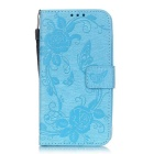 Fashionable Flip-Open PU + TPU Case Outer Cover w/ Stand & Card Slots
