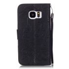 BLCR Butterfly Pattern Protective Case for Samsung Galaxy S7 - Black