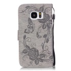 BLCR Butterfly Pattern Protective Case for Samsung Galaxy S7 - Gray