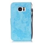 BLCR Butterfly Pattern Protective Case for Samsung Galaxy S7 -Sky Blue