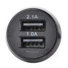 Mini 5V / 3.1A Dual USB Ports Car Cigarette Lighter Charger - Black