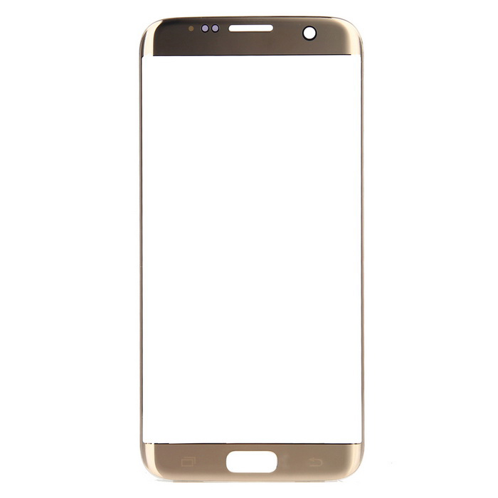 Replacement Glass Touch Screen Panel for Samsung S7 Edge - GoldReplacement Parts<br>Form  ColorGolden + TransparentModelS7MaterialGlassQuantity1 DX.PCM.Model.AttributeModel.UnitCompatible ModelsSamsung Galaxy S7 EdgeReplacement PartsTouch PanelSpecificationThis is a high quality glass replacement part.Packing List1 * Touch screen<br>