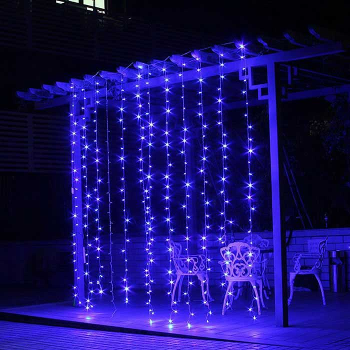 String Lights That Twinkle : 12W 200-LED Blue Light Christmas Twinkle String Lights (20m) - Free Shipping - DealExtreme