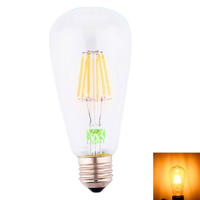ywxlight E27 8-COB ST64 LED žárovka