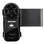 ESCAM Thumb QM10 Super Mini HD720P Wi-Fi IP Camera - Black (US Plugs)