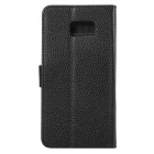 PU Full Body Case w/ Stand for for Samsung Galaxy note 7 - Black