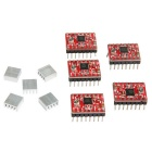 Geeetech A4988 3D Printer Stepper Motor Boards - Red (5PCS)