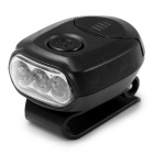 Portable Fishing Lighting Clip-on 3-LED Cold White 36lm Hat Light Headlamp