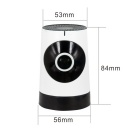 185 Degree 1.0MP Wireless Network Camera with Home Security (US Plugs)