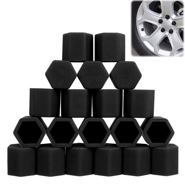 ZIQIAO 19mm Car Tyre Screws Cover - Black (20PCS)Other Exterior<br>Form  ColorBlackModelN/AQuantity1 DX.PCM.Model.AttributeModel.UnitMaterialSiliconeCompatible MakeUniversalPacking List20 * Tyres Screw Caps<br>