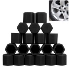 ZIQIAO 19mm Car Tyre Screws Cover - Black (20PCS)