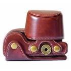 Crazy Horse Leather Camera Case Bag for Sony A6000 / A6300 - Coffee