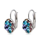 Xinguang Woman's Gorgeous Sparkling Crystal Earrings - Silver
