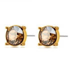 Xinguang Women's Exquisite Single Crystal Decorated Stud Earrings