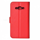 PU Magnetic Flip-Open Wallet Case w/ Strap for Samsung Galaxy J3 pro
