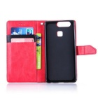 PU Leather Wallet Cases w/ Holder for Huawei P9 - Red + Black