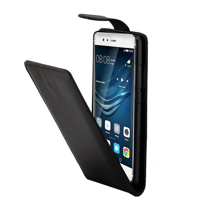 PU Leather Case / Holder Card Slot for Huawei P9 - Black