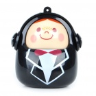 Mini Portable USB Rechargeable Cute Baby Speaker - Pink (3.5mm Jack)