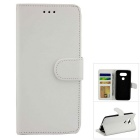Flip Open PU Leather Case w/ Stand / Card Slots for LG G5 - White