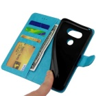 Flip Open PU Leather Case w/ Stand / Card Slots for LG G5 - Sky Blue