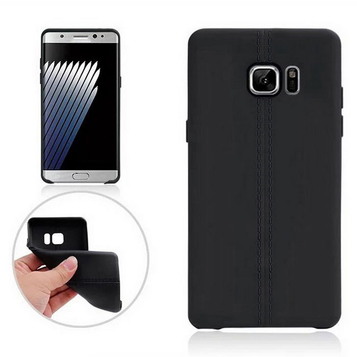 TPU Protective Back Case Cover for Samsung Galaxy Note 7 - Black
