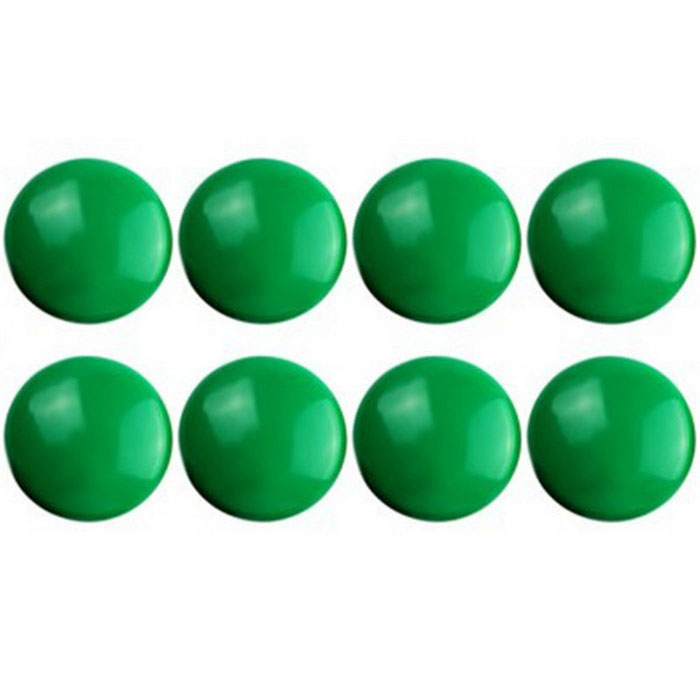 8PCS FUNI CT-17 Office Whiteboard Round Magnets - Green (8PCS)