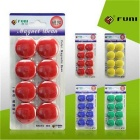 FUNI CT-17 Office Whiteboard Round Magnets - Blue (8PCS)