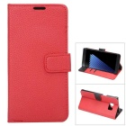 PU Full Body Case w/ Stand for for Samsung Galaxy note 7 - Red