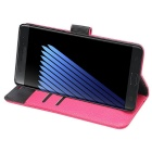 PU Full Body Case w/ Stand for Samsung Galaxy Note 7 - Deep Pink