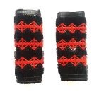 Electric Motorcycle Rider Non-slip Rubber Handlebar Covers - Red