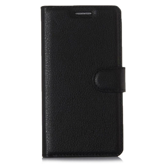 PU Leather Wallet Cases w/ Card Slots for Xiaomi Redmi 3 - Black