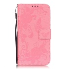 BLCR Butterfly Pattern Protective Case for Samsung Galaxy S7 - Pink