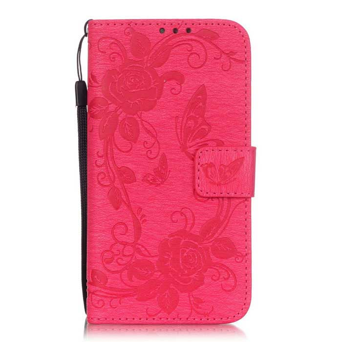 BLCR Butterfly Pattern Case for Samsung Galaxy S7 - Deep Pink