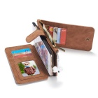 Genuine Leather Detachable Zipper Wallet Case for IPHONE 5/5S/SE