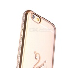 Swan Patterned TPU Crystal Back Case Cover for IPHONE 6/6S - Gold